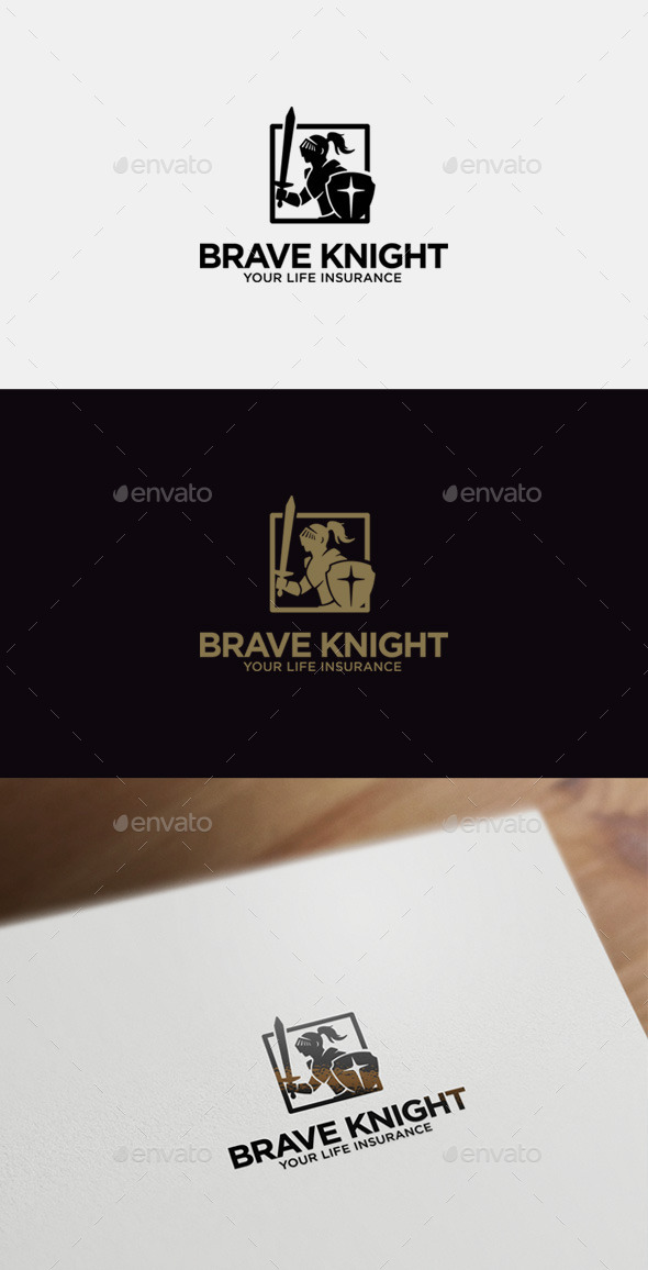 Brave Knight Logo Template - Crests Logo Templates