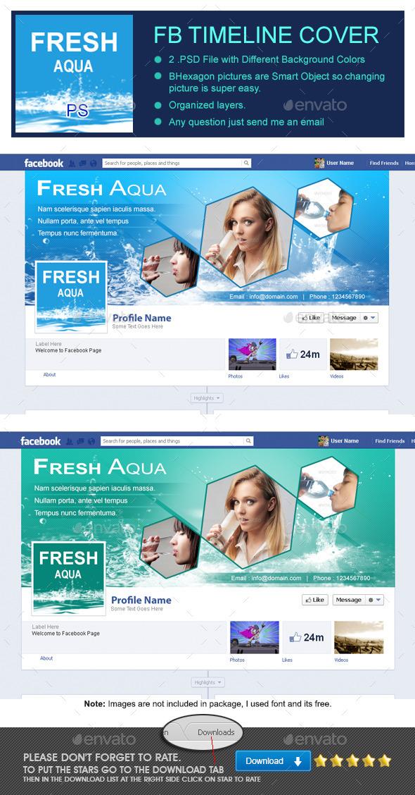 Fresh Aqua Fb Timeline Cover - Facebook Timeline Covers Social Media