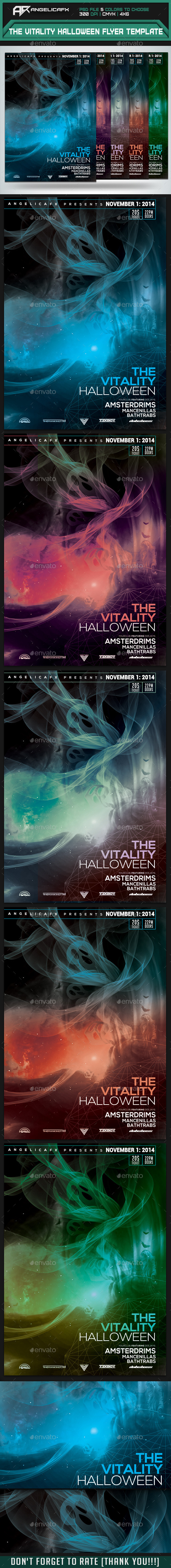 The Vitality Halloween Flyer Template - Events Flyers