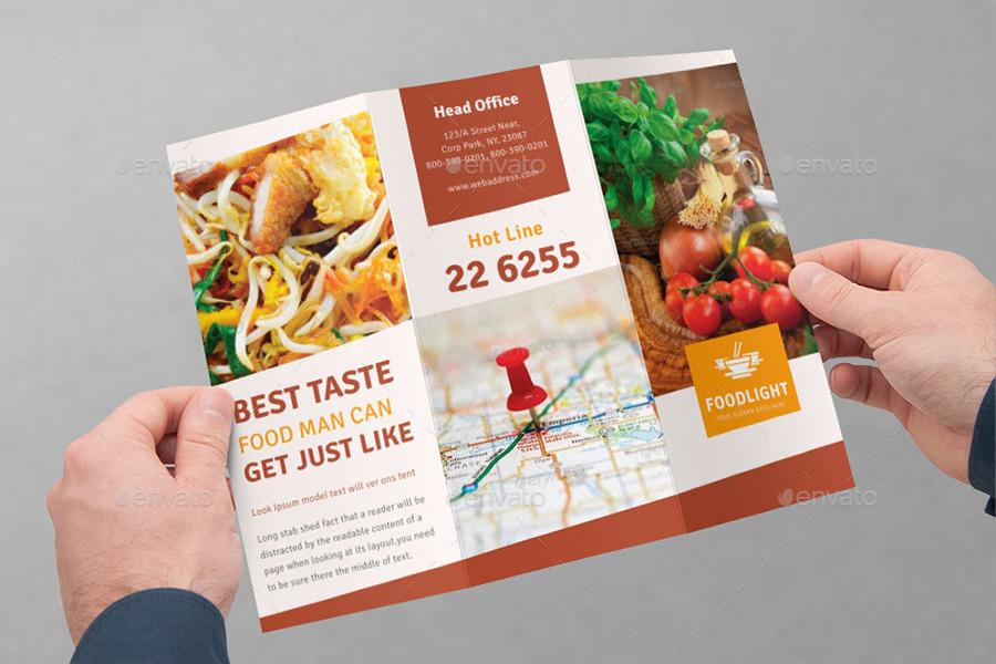 restaurant brochure templates - restaurant tri fold brochure bundle volume 4 by dotnpix