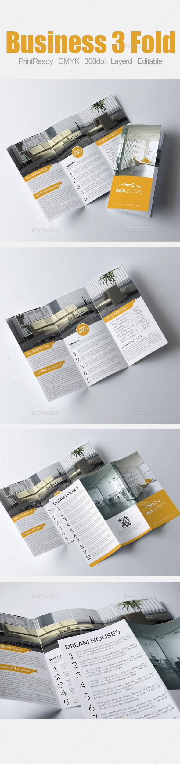 Tri Fold Real Estate Brochure  - Corporate Brochures