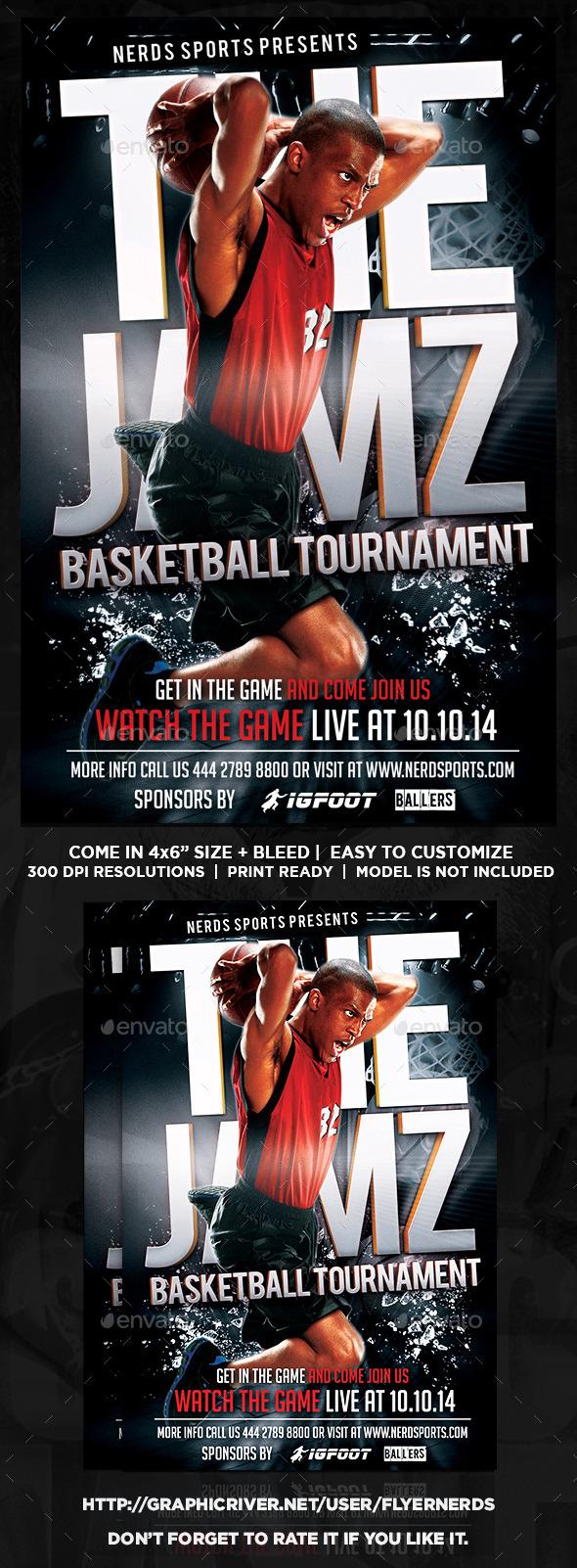 Basketball Jamz Sport Flyer - Sports Events