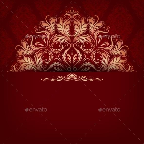 Elegant Filigree Ornament on Seamless - Patterns Decorative