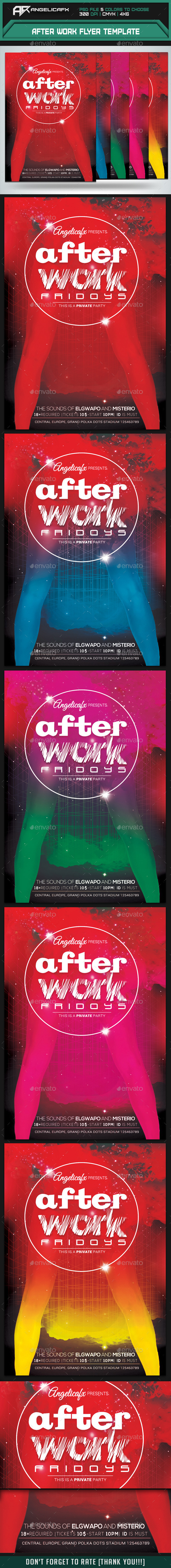 After Work Flyer Template - Flyers Print Templates