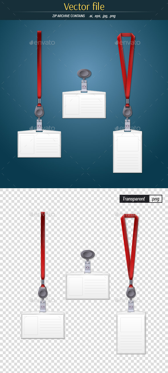 Lanyard and Badge - Man-made Objects Objects