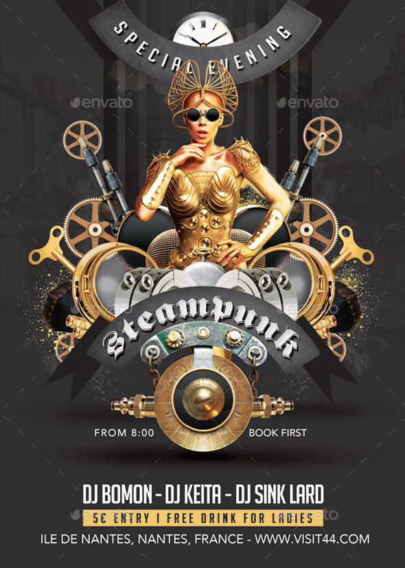 Steampunk Modern Festival Special Party in Club - Clubs & Parties Events