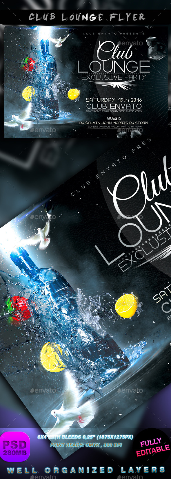 Club Lounge Flyer - Events Flyers