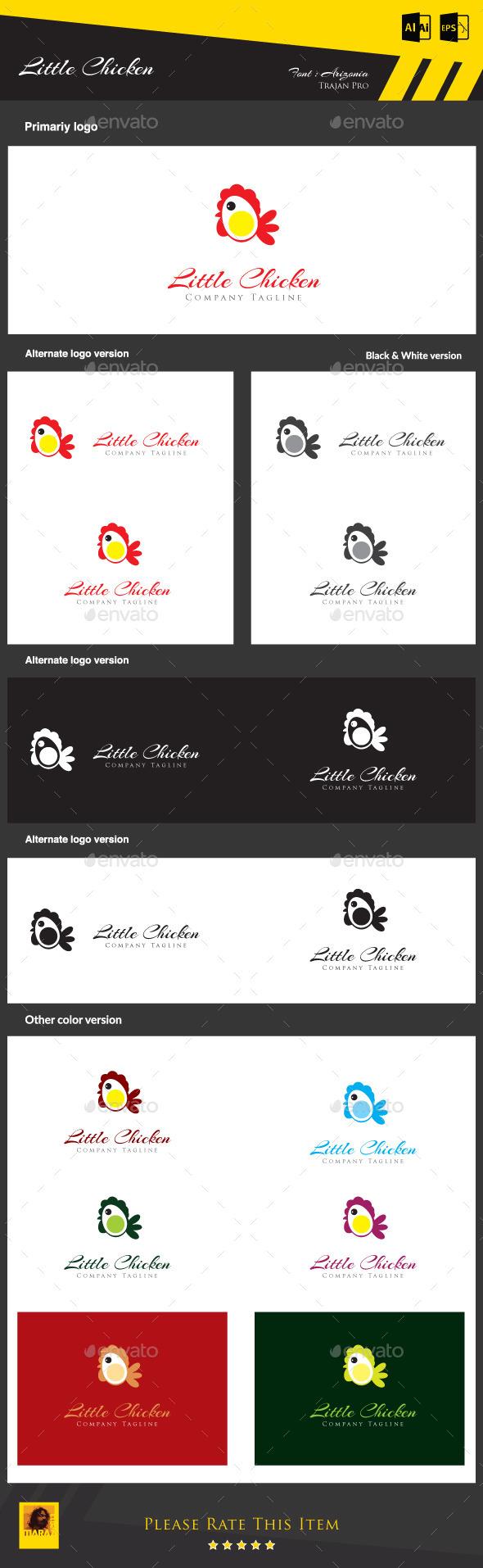 Little Chicken - Animals Logo Templates