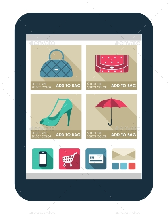 Online Shop on the Tablet Screen - Retail Commercial / Shopping
