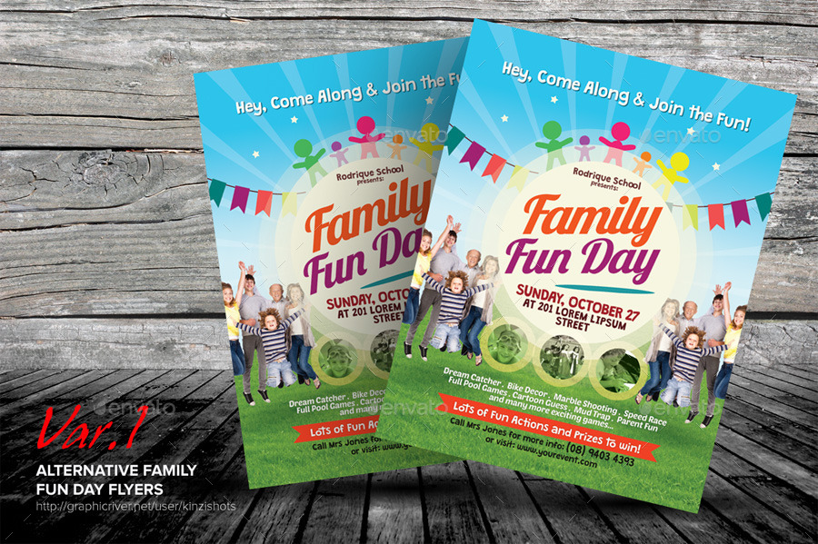 alternative family fun day flyers by kinzishots graphicriver. Black Bedroom Furniture Sets. Home Design Ideas