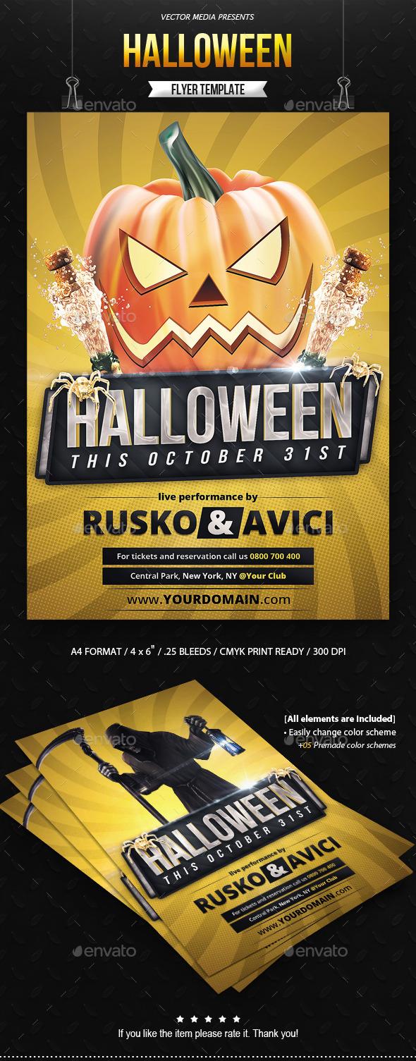 Halloween - Flyer - Clubs & Parties Events