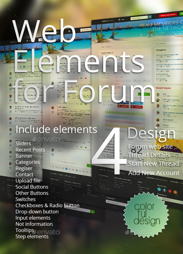 Web Elements for Forum - Miscellaneous Web Elements