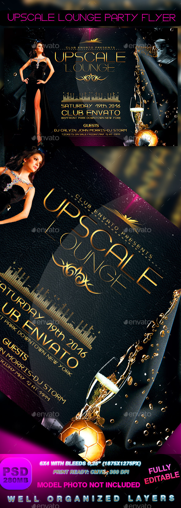 Upscale Lounge Party Flyer - Events Flyers
