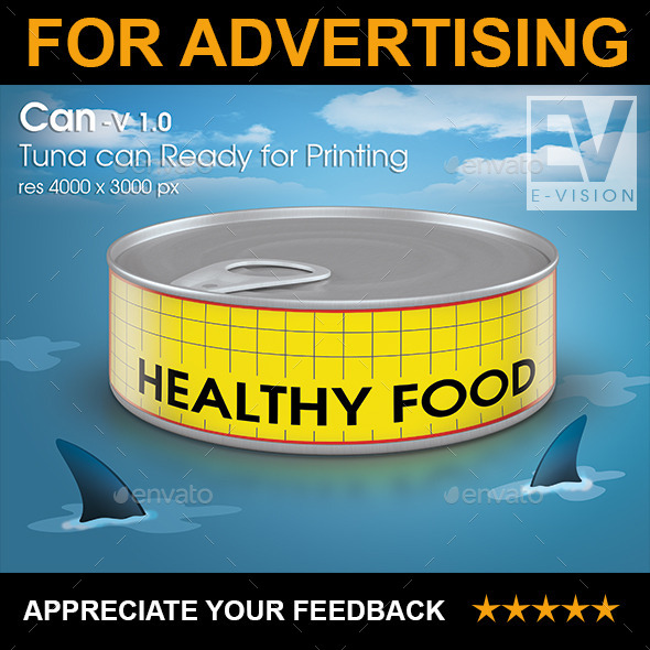 Canned Tuna V 1.0 - Mockup for Printing - Product Mock-Ups Graphics