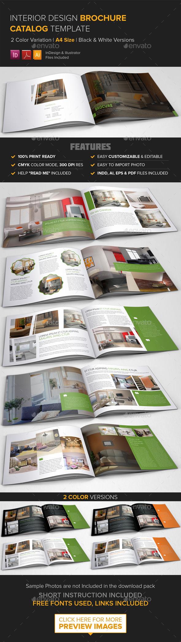 Interior Design Brochure Catalog Template - Corporate Brochures