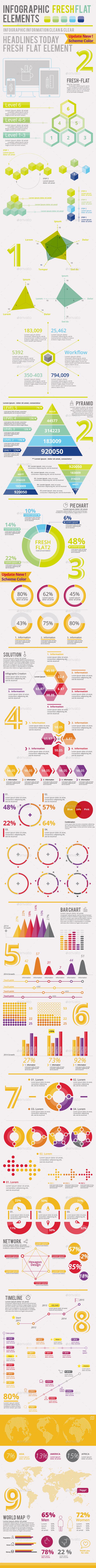 Fresh-Flat 2.0 - Infographics