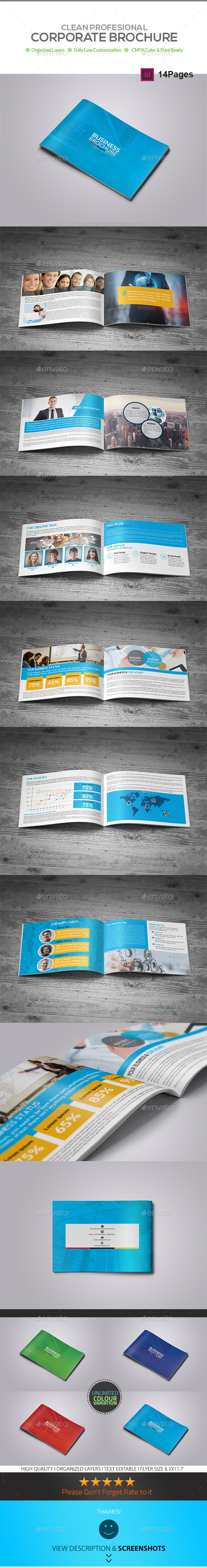 Business Brochure Template 14 Pages - Corporate Brochures
