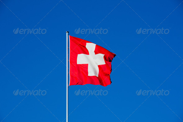 Swiss flag - Stock Photo - Images