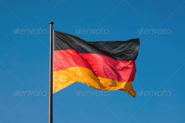 German flag - Stock Photo - Images