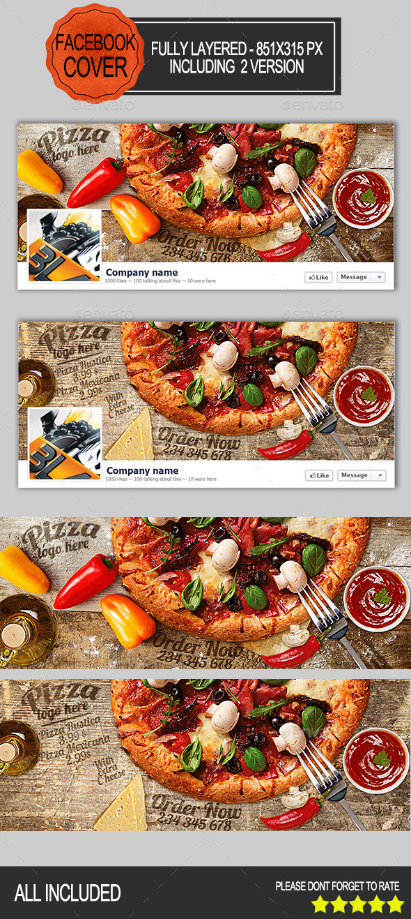 Pizza Facebook Cover - Facebook Timeline Covers Social Media