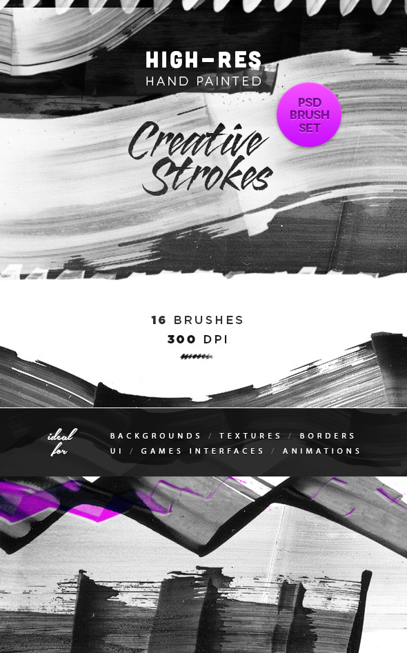Creative Artistic Ink Brush Strokes - Artistic Brushes