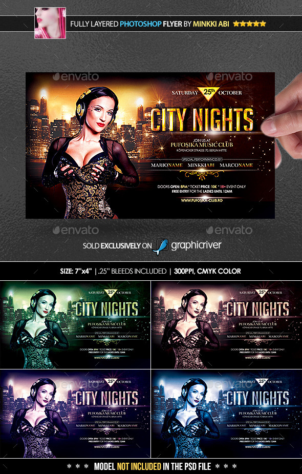 City Nights Poster/Flyer - Events Flyers