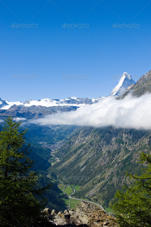 Mattertal and Matterhorn - Stock Photo - Images