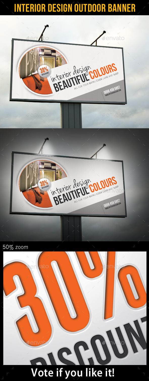 Interior Design Outdoor Banner - Signage Print Templates