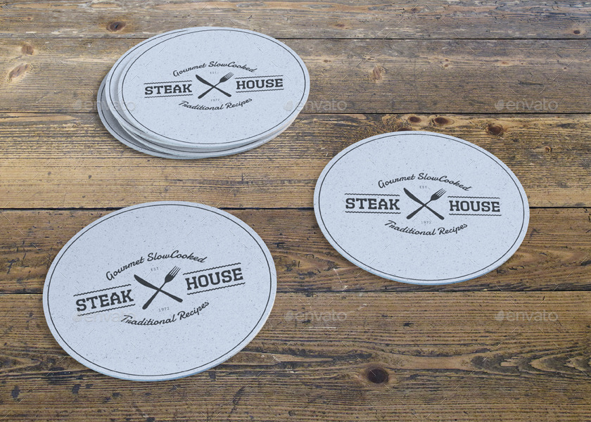 Drink Coaster Mock Up Vol 2 By Sealord Graphicriver