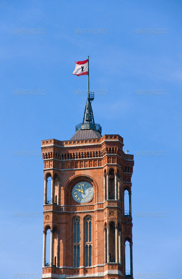 Tower of the Rote Rathaus - Stock Photo - Images
