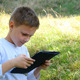 Happy Young Boy Using Tablet - VideoHive Item for Sale