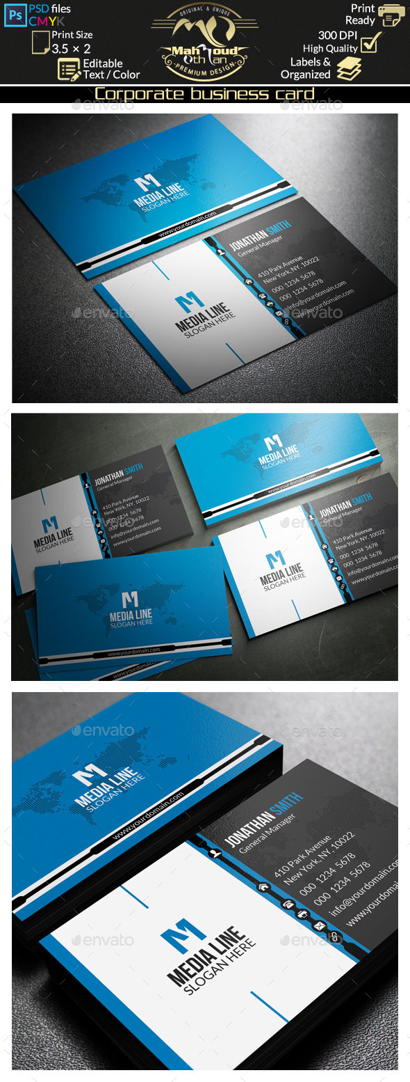 Corporate Business Card 51 - Corporate Business Cards