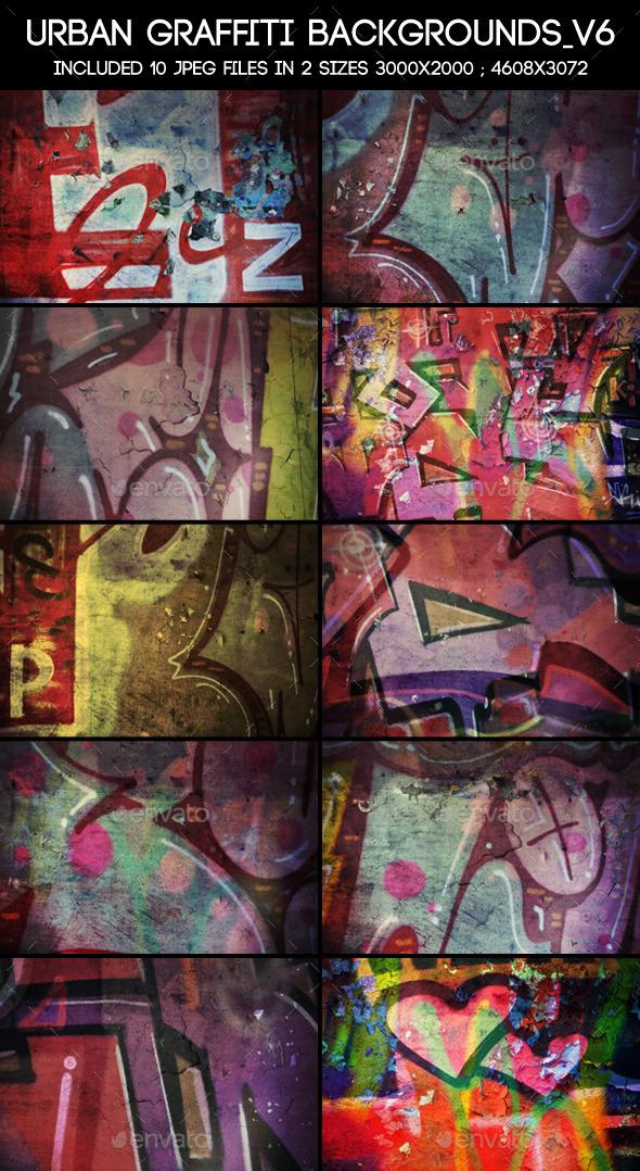 Urban Graffiti Backgrounds V6 - Urban Backgrounds