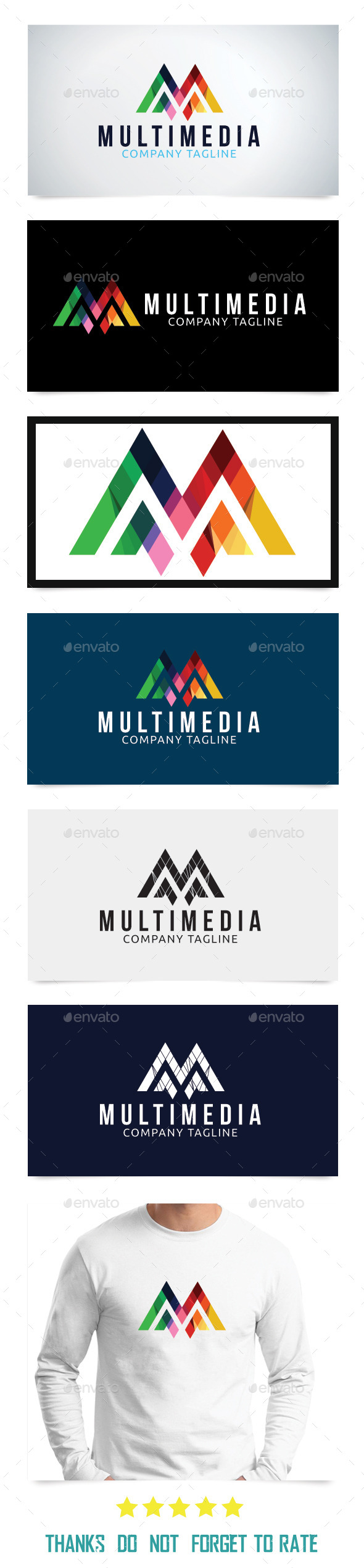 Multimedia Logo Template  - Abstract Logo Templates