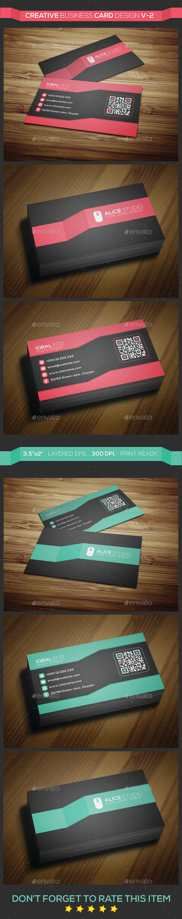 Creative Business Card Design V-2 - Creative Business Cards