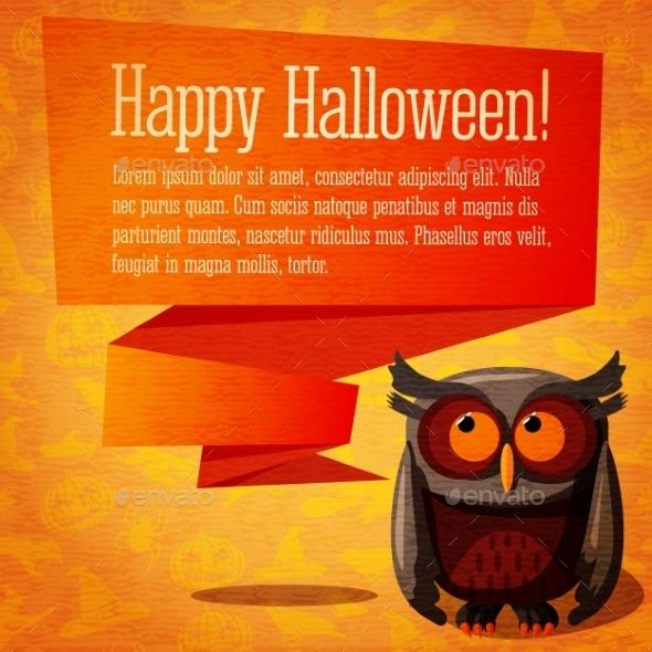 Happy Halloween Banner or Greeting Card  - Halloween Seasons/Holidays