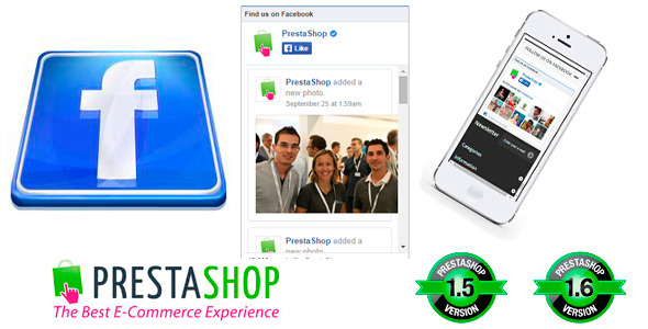 Responsive Facebook Like Box with Sliding  Animated Tab Module Prestashop - CodeCanyon Item for Sale
