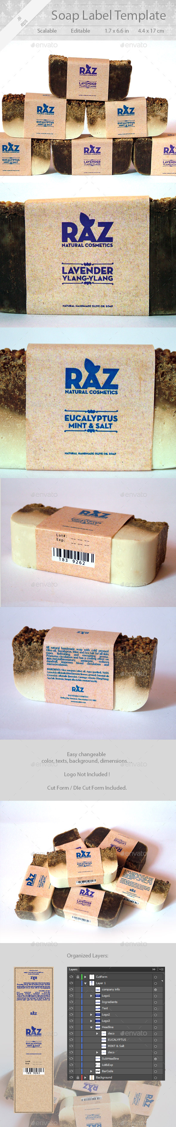 Soap Label Design - Packaging Print Templates