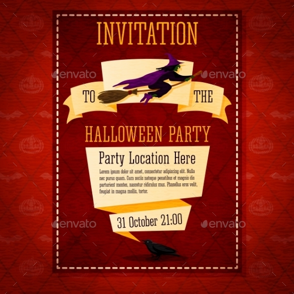 Happy Halloween Invitation Card - Halloween Seasons/Holidays