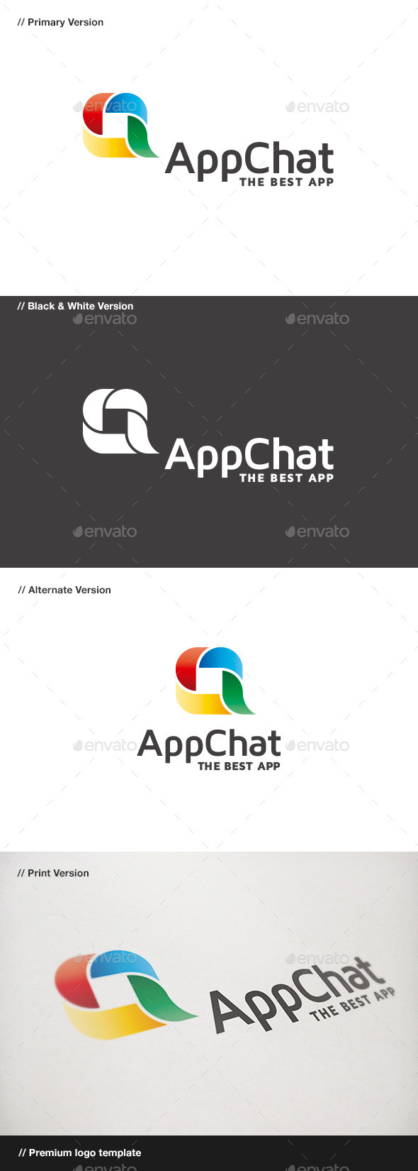 App Chat - Abstract Logo Templates