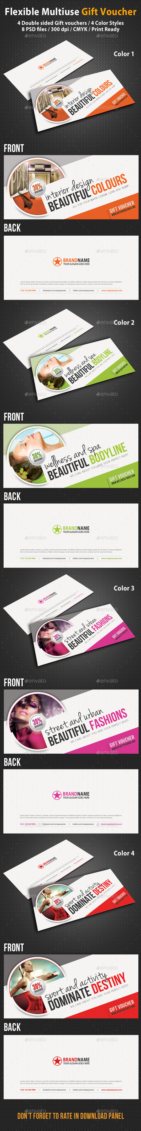 Creative Gift Voucher V02 - Cards & Invites Print Templates
