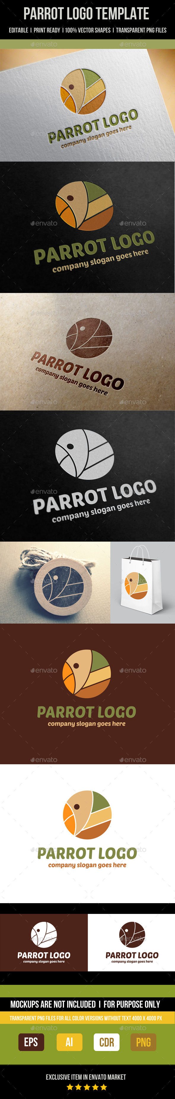Parrot Logo Template - Abstract Logo Templates