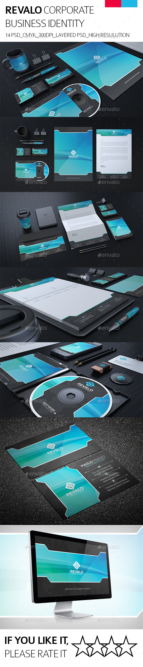 Revalo Corporate Identity - Stationery Print Templates