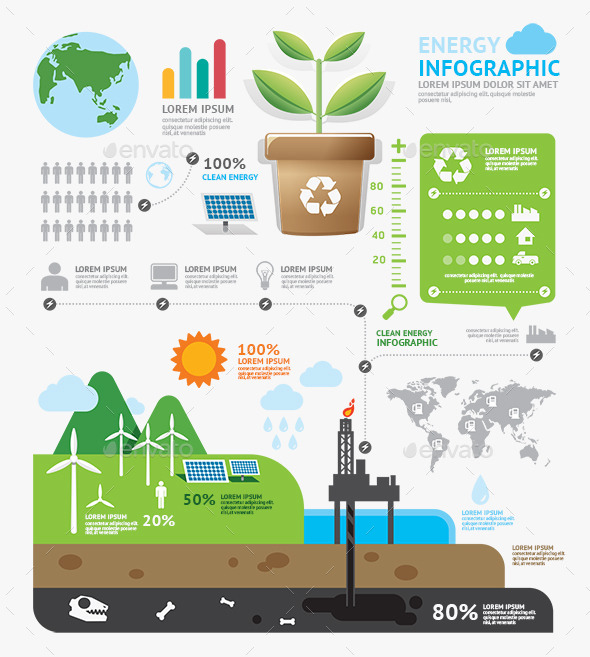 Infographic Energy Template Design - Infographics