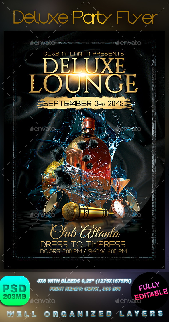Deluxe Party Flyer - Events Flyers