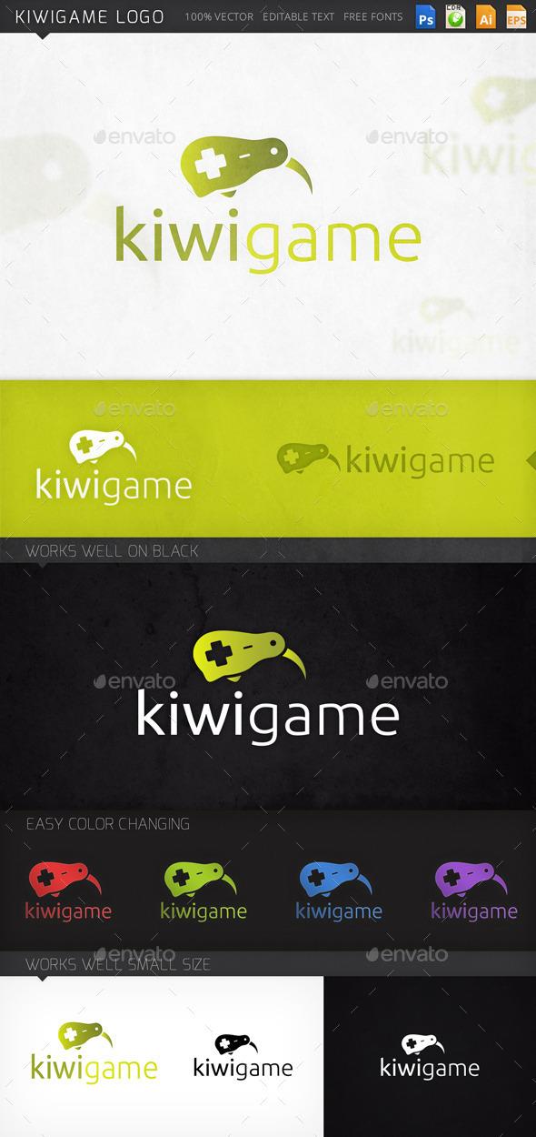 Kiwi Bird Controller Gamer Logo Template - Animals Logo Templates