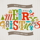 Christmas Type Design on a Knitted Background