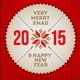 Christmas and New Year Greeting Label