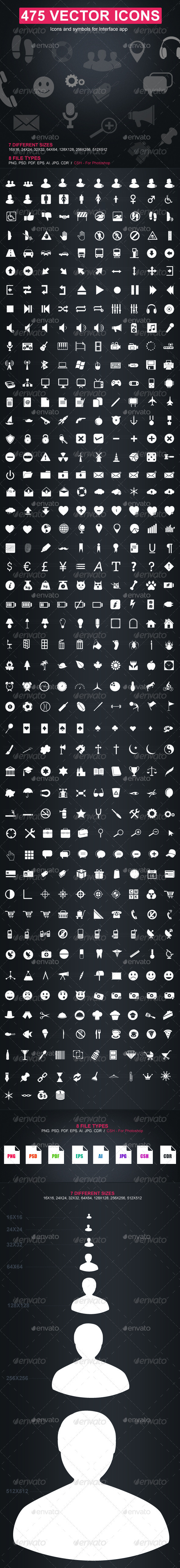 475 Vector Icons