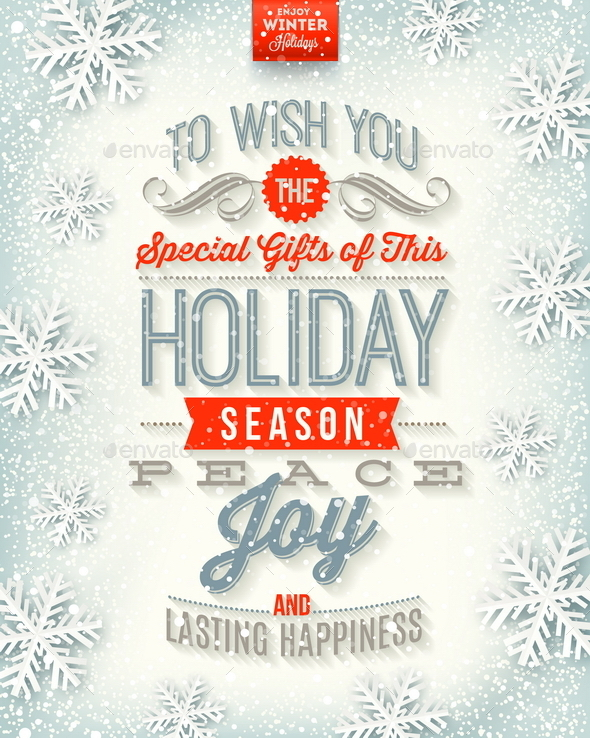 Christmas Illustration - Holidays Type Design - Christmas Seasons/Holidays